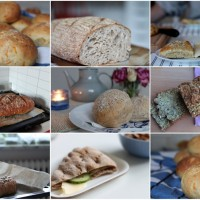 En massa hembakat bröd